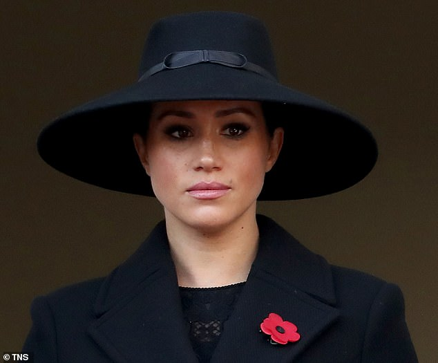 Heartbreaking: Discussing the 39-year-old Duchess of Sussex's shocking revelation in The New York Times on Wednesday, Lisa also reflected on the royal family's response. Pictured at a Remembrance Sunday ceremony in London in November 2019