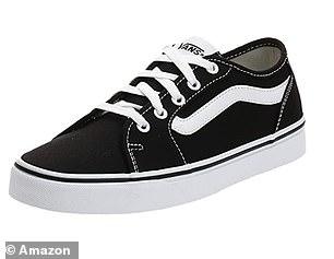 Vans Women's Filmore Decon Sneaker in Black and True White