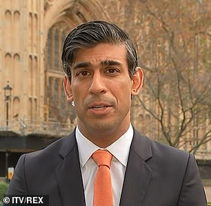 Chancellor Rishi Sunak, pictured yesterday, is injecting huge sums into the economy but has been accused by IFS director Paul Johnson of forgetting Covid after 2021 and not mentioning Brexit at all