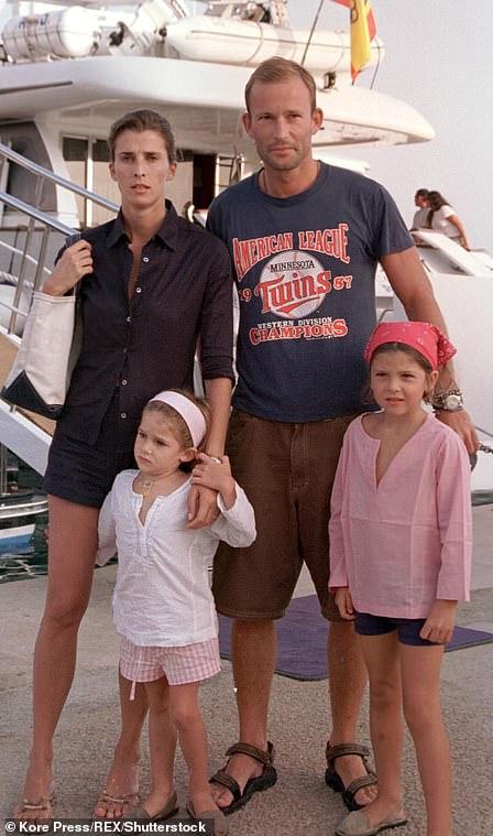 Kyril married was María del Rosario Nadal y Fuster de Puigdorfila, also known as Rosario Nadal, the daughter of Miguel Nadal y Pestard, a Balearic Islands industrialist. Pictured, with their daughters Mafalda and Olimpia in 2000