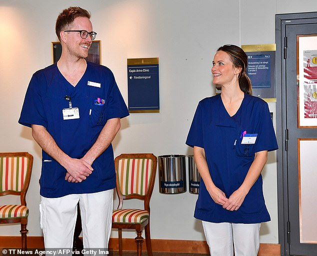 It is unclear exactly how the royal couple got infected or when they tested positive, but Princess Sofia (right) is regularly swabbed due to her work at a private hospital in Stockholm