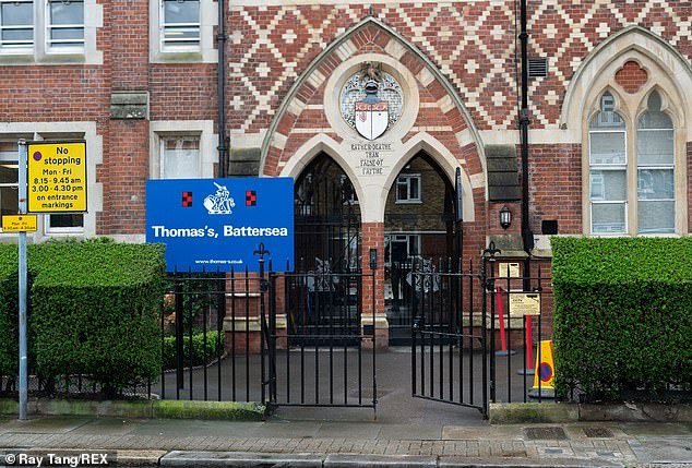 Thomas¿s Battersea (above) has been open since 1990, with Prince George starting in 2017 and Princess Charlotte joining her older brother two years later in September 2019