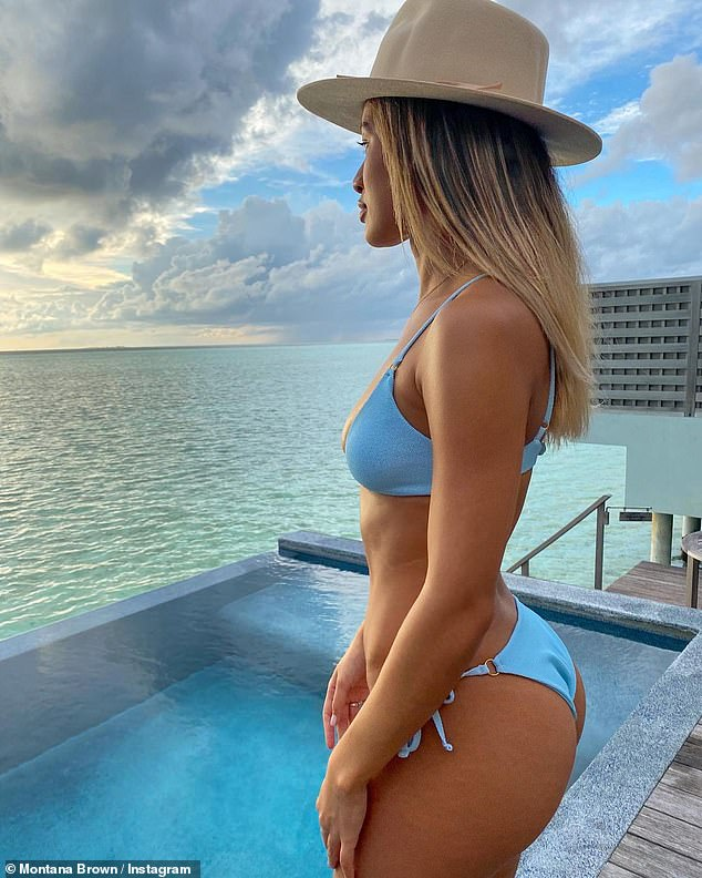 Careful:Amid much furore over a number of reality stars and influencers jetting abroad amid the COVID-19, the Love Island star, 25, seemed determined to reiterate that she had carefully planned her business trip to abide by guidelines
