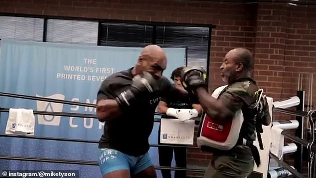 Iron Mike and Roy Jr have both trained to look ripped and ready for Saturday's showdown