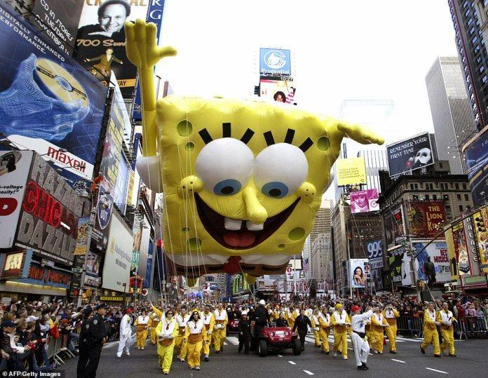SpongeBob SquarePants was a star character at last year's parade