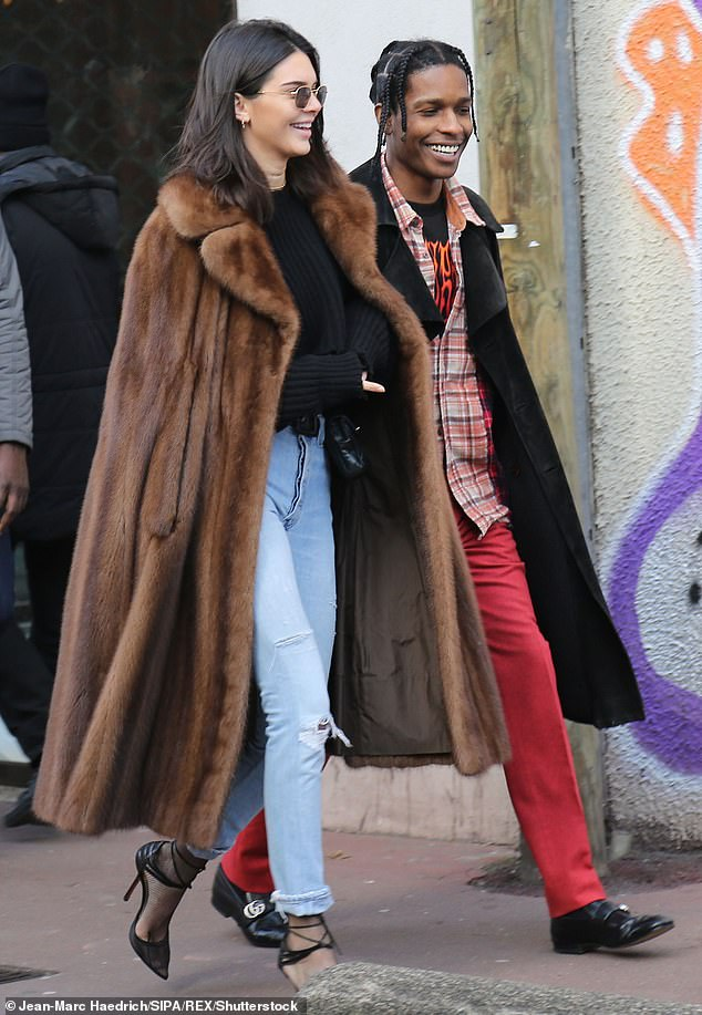 His pal: With Kendall Jenner at the flea market of Saint-Ouen near Paris in 2017