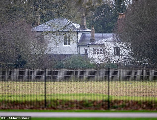 It was announced last week that the Duke and Duchess of Sussex had 'handed the keys' of Frogmore Cottage, pictured, heir dwelling before their very public royal exit, to Eugenie and her husband