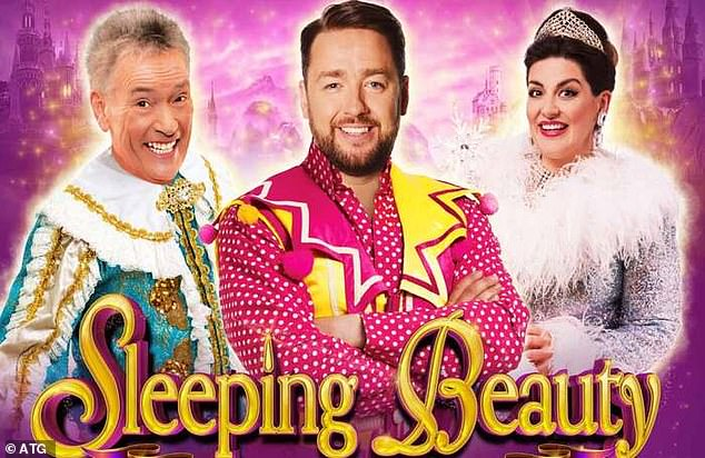 Pantos including Sleeping Beauty, featuring comedian Jason Manford (pictured: The poster for the show), which was due to take place at the Manchester Opera House are now facing cancellation