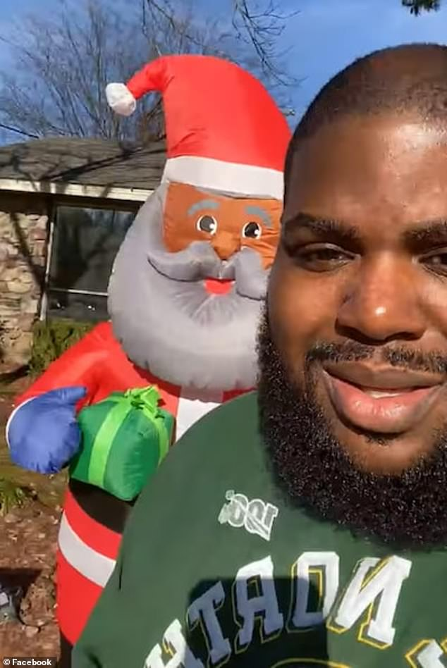 Arkansas man Chris Kennedy has been left stunned after receiving a letter from an anonymous neighbor ordering him to take down an 8-foot black Santa Claus decoration he erected in his front yard