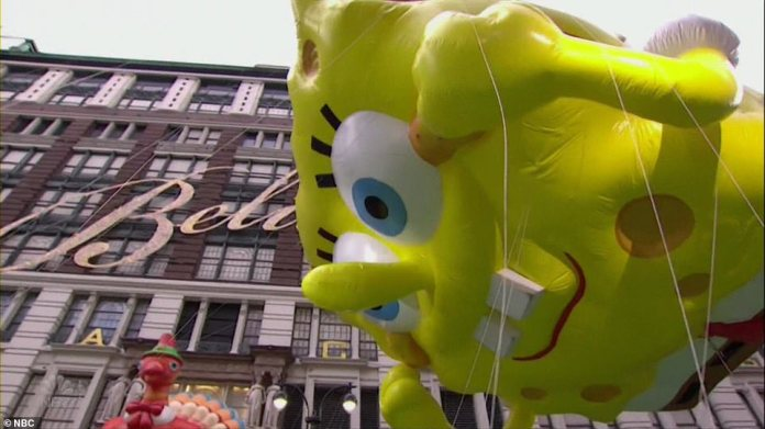 The fan favorite balloon of SpongeBob returned to the 2020 parade