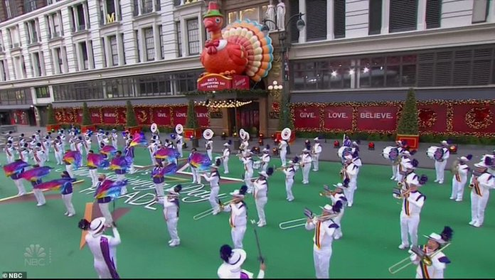 Bands performed from several of the other large parades of the year that were canceled due to the pandemic
