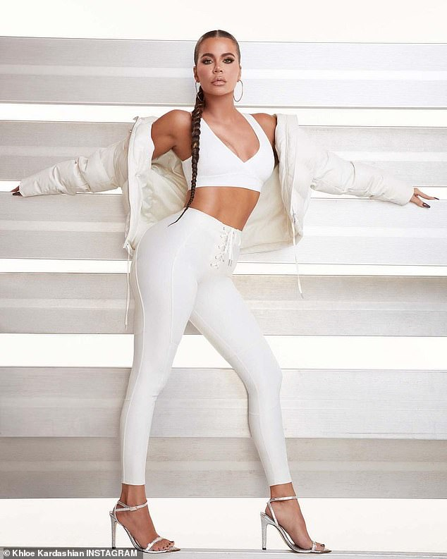 She works it: Khloe Kardashian posed in her Good American line earlier this month