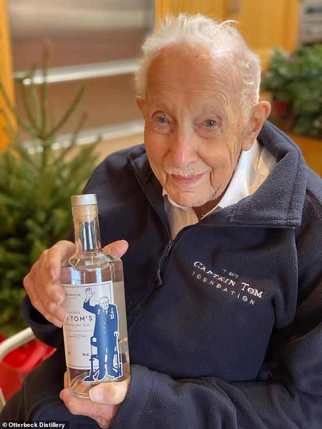 Captain Sir Tom Moore, 100, has partnered with the Otterbeck Distillery in his native Yorkshire to create a drink which costs £35.95 for a 70cl bottle