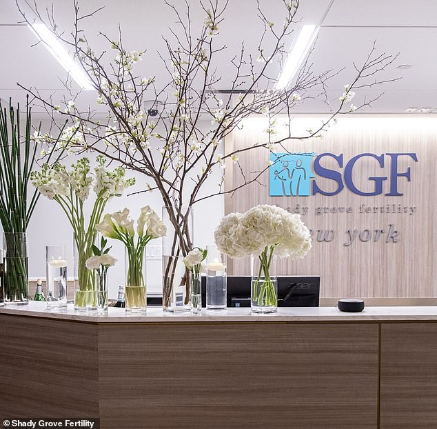 A view of the company's Shady Grove Fertility in New York City that was impacted in the attack above