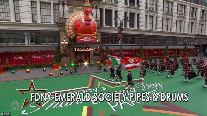 Most of the performances were filmed right in front of Macy's flagship NYC store