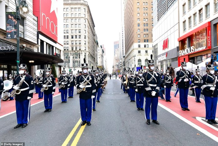 The West Point Band prepares to perform on Thursday morning