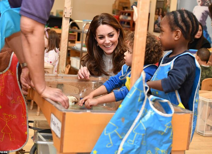 The duchess has made early years development one of the main pillars of her public role since she first became a member of the royal family. Picturedduring a visit to London Early Years Foundation Stockwell Gardens Nursery and Pre-school, in south west London in January