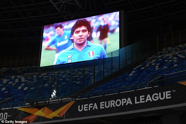 Maradona's face will remain on the screens throughout the game as part of another tribute