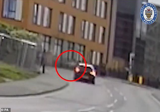 This is the shocking moment a 19-year-old gang member was blasted in a drive-by shooting from a car driven by a 15-year-old boy in Coventry