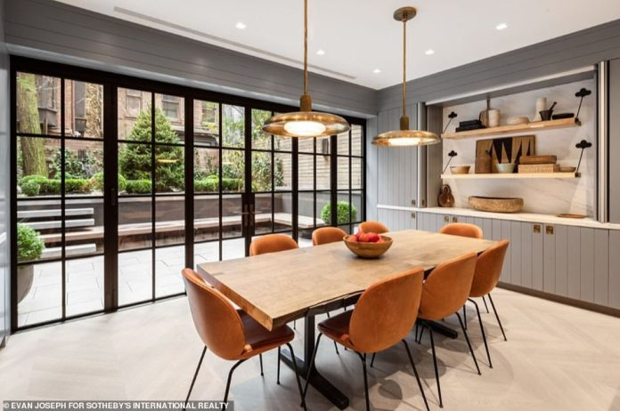 The spacious7,411-square-foot home is set across five floors. The buyer purchased the home through a limited liability corporation
