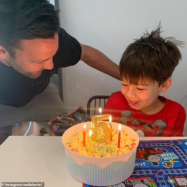 Jimmy and Nadia Bartel celebrate their son Aston's fifth birthday with sweet tributes