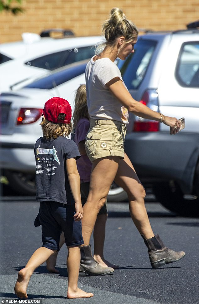 Hands on:Despite being Hollywood megastars, doting parents Elsa and her husband Chris Hemsworth are very hands-on with their children and are regulars at the school gate