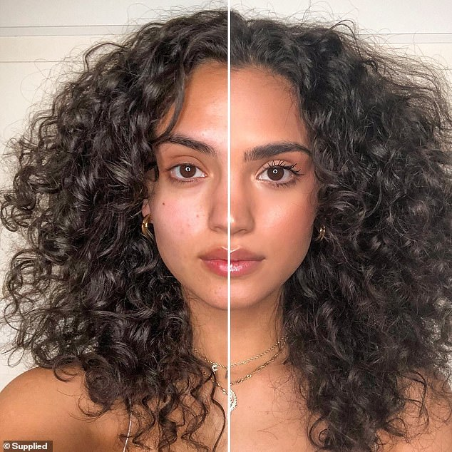 Others said the budget beauty buy offers fantastic coverage, while giving the user a perfectly natural look (pictured before and after application)
