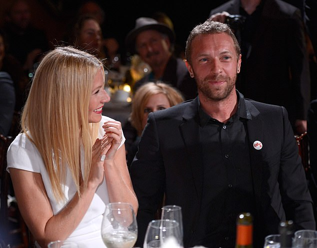 The way they were: Gwyneth shares her children with Chris Martin whom she publicly split from in 2014, when she inspired mockery by calling the breakup 'conscious uncoupling'