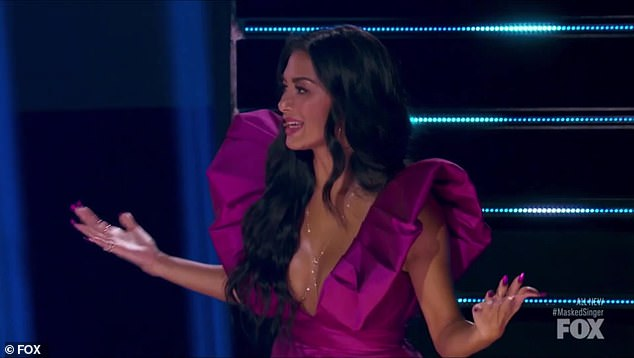 Killed it:Scherzinger was clearly impressed, saying he 'killed it' before his 'game changing clue' is revealed