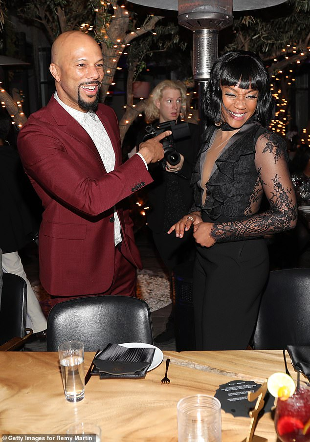 Spilling the tea: Tiffany also gossiped that Common is her 'first time ever dating a celebrity. I f***ed one, but this is my first time like being in a relationship with one.' Seen here in 2018