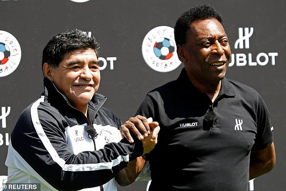 Maradona won the World Cup with Argentina in 1986 while Pele won it three times