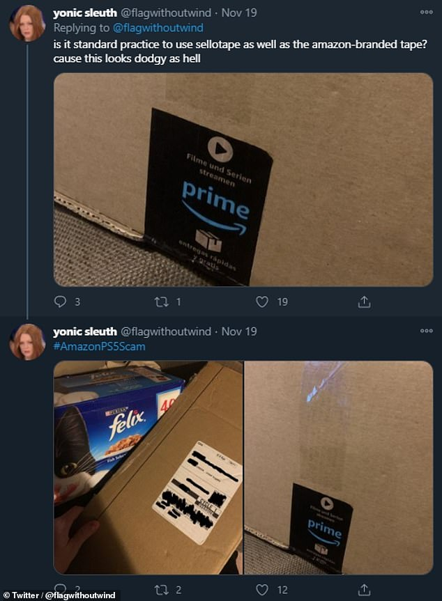 Unhappy gamers turned to social media with concerns that their orders may have been stolen — replaced with items from cat food (pictured) and fryers to packing tape and foot massagers