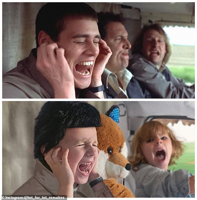 Dumb and Dumber: Showing off her range of acting, Matilda plays both characters in this scene from the hilarious Dumb and Dumber