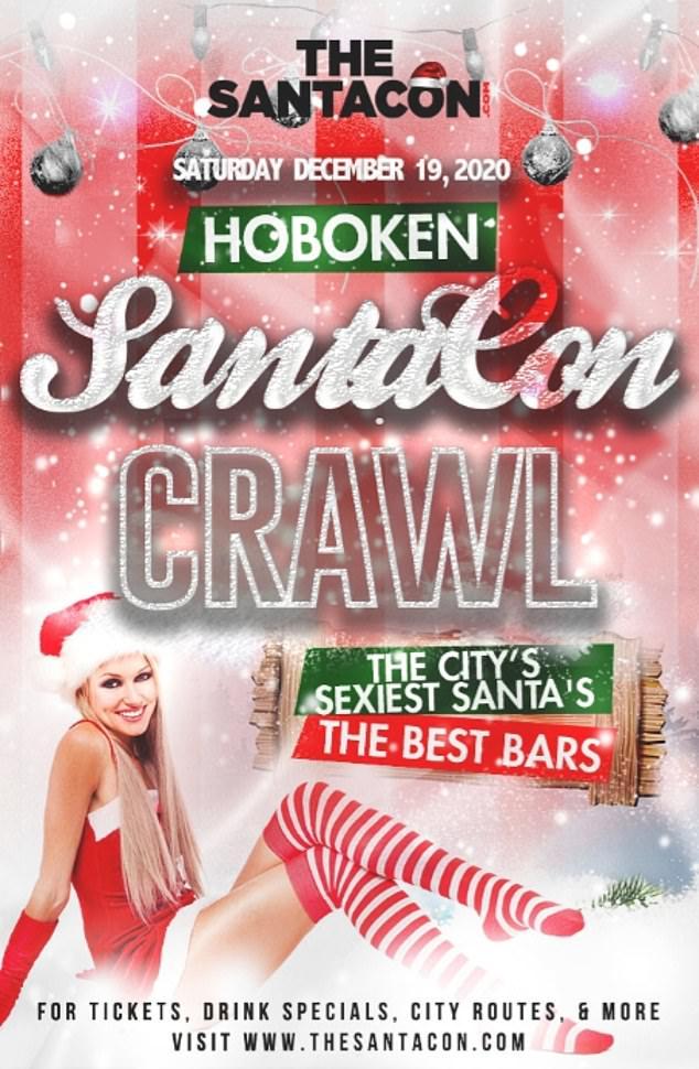 The Hoboken SantaCon is still advertising tickets as of Friday