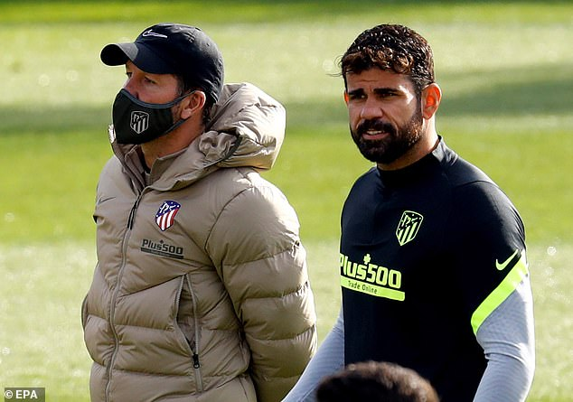 Costa had expected to play for Simeone's men against Lokomotiv Moscow but withdrew