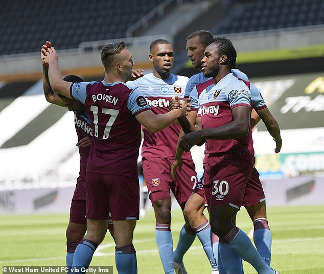 West Ham versus Manchester Unities will be the first game in front of fans after lockdown