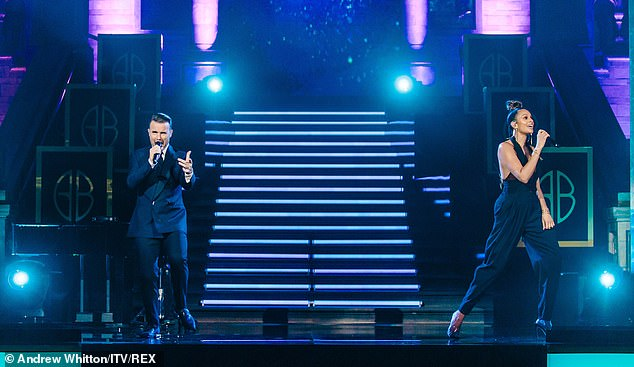 Performance: Gary Barlow and a whole host of his famous friends gathered for a televised musical concert called The Night At The Museum, which airs Sunday on ITV