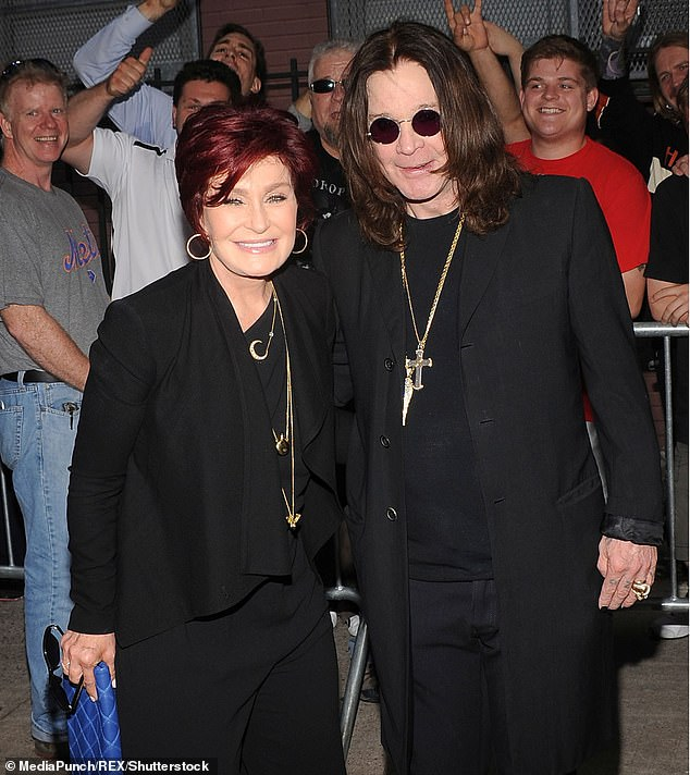 Bad weather: Ozzy Osbourne, 71, opened up about his past infidelities and said he regretted their impact on his wife Sharon in an interview released Thursday with GQ;  seen together in 2013