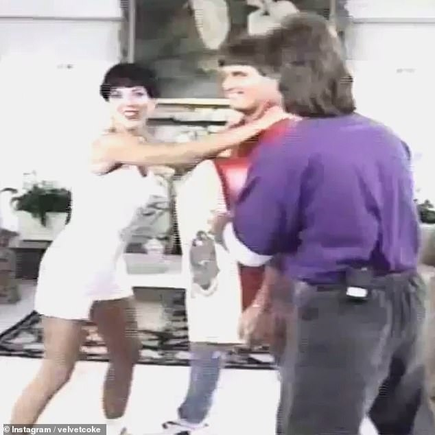 Aggressive: In the footage, titled Women's Self-Defence & Fitness Program, Hosted By Kris and Bruce Jenner, the former couple were joined by martial arts instructor Ken Herrera