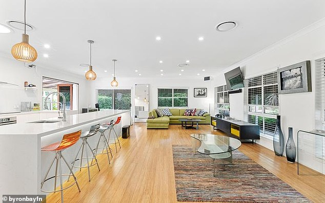 Interiors: The property also features an open-plan layout and a modern decor with a neutral colour palette