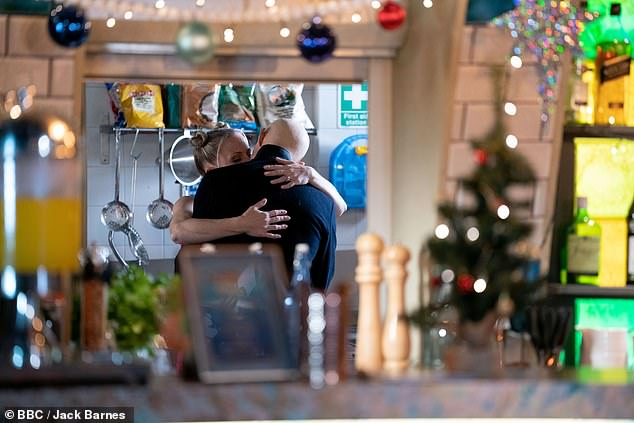 Airing Monday:EastEnders' Linda Carter and Max Branning will be seen locking lips in shocking scenes - but are witnessed by Ian Beale