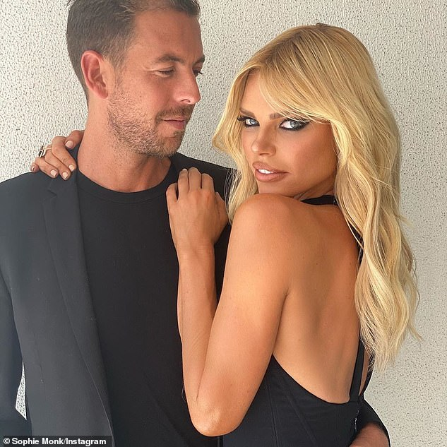 Congratulations! Sophie Monk, 40 (right) is reportedly engaged to her boyfriend Joshua Gross, 42, (left) after two years of dating