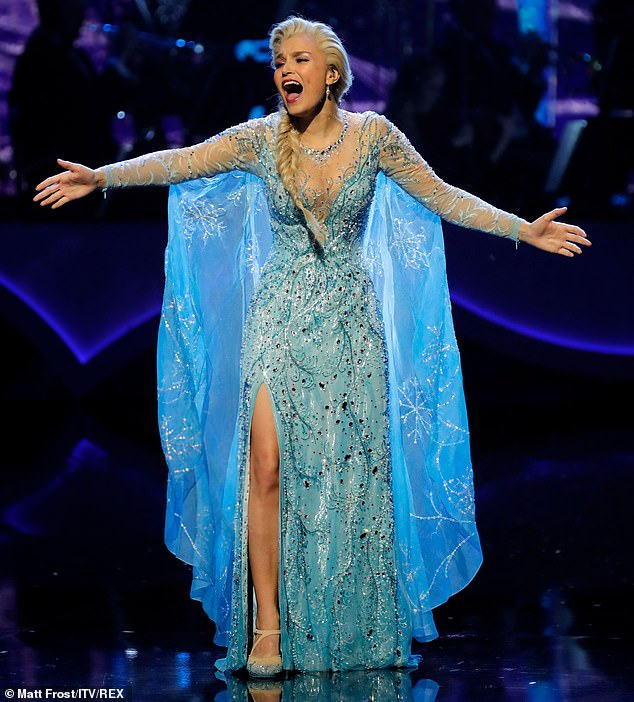 Let It Go! There was also a spectacular performance from Samantha Barks who plays Elsa in Frozen The Musical