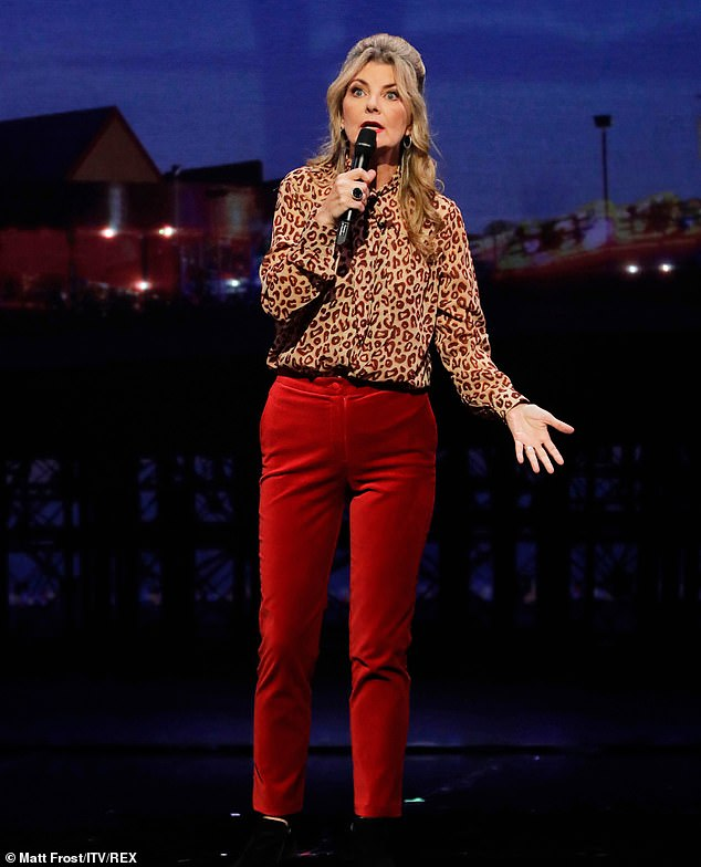 Stand-up: Comedian Jo Caulfield gave a performance at the historic Blackpool Opera House in the Winter Gardens Complex