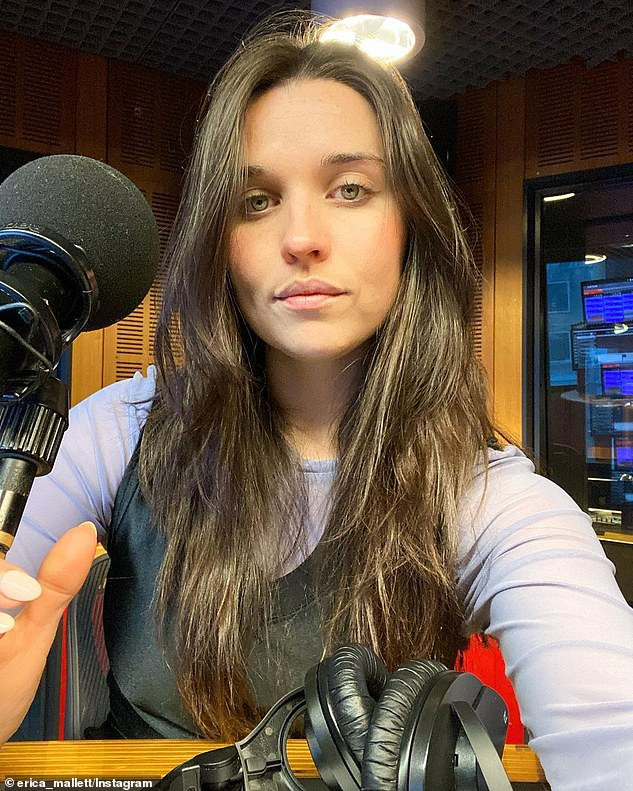 Clarification: Erica (pictured) told her Instagram followers that her show being axed by Triple J coincided with the 'natural conclusion' of the pair's 'creative ride together'