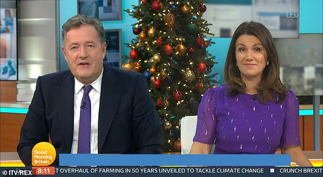 Fuming: On Monday, on Good Morning Britain, the 55-year-old host angrily told Laurence to 'shut up' as he slapped the star saying the Covid-19 pandemic was' not About you ''