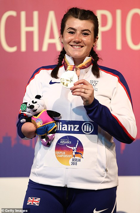 Winner: Pictured at the 2018 European Para-Athletics World Championships Berlin
