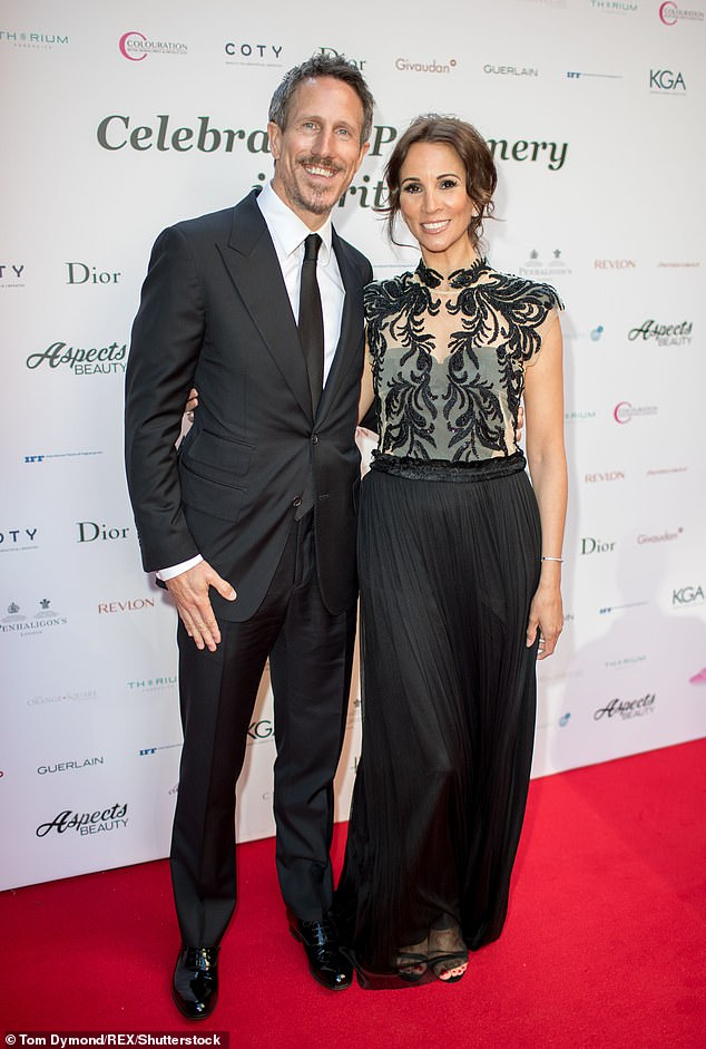 Power couple:Andrea and her husband Nick Feeney launched the website in 2018, following the success of her best-selling book, Confessions of a Menopausal Woman
