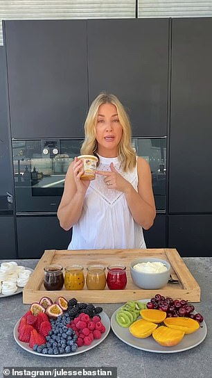 Earlier this year, the idea of the pavlova grazing board took off, with television presenter and fashion stylist Jules Sebastian sharing how she puts hers together