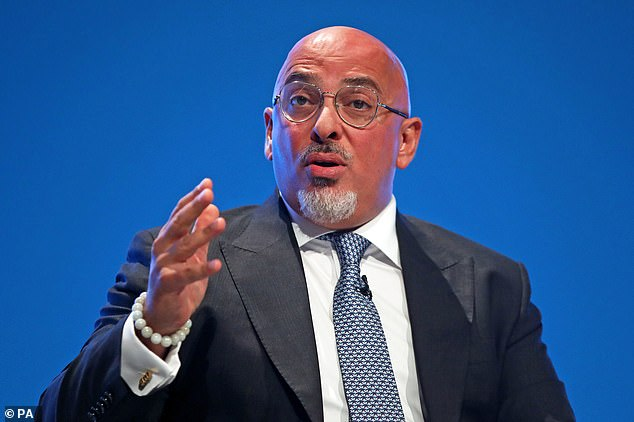 Nadhim Zahawi said that while an injection would be voluntary, some sites - including sports fields - might require proof in exchange for an entry permit.  Zahawi is shown in this file image above